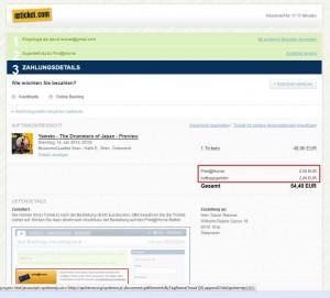 Kosten für Print@Home: 2,50 €